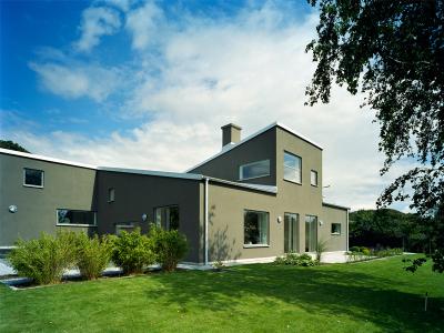 putsad villa i bjärred av Agneta Hahne arkitekter malmö